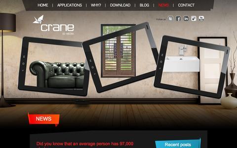 Screenshot of Press Page crane-3d.co.uk - - crane - captured Sept. 30, 2014