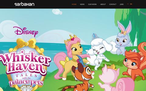 Screenshot of Home Page sarbakan.com - Home - captured Aug. 2, 2015