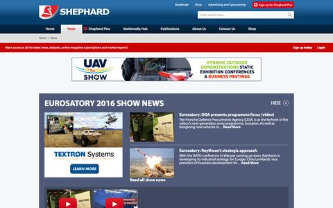 Screenshot of Press Page shephardmedia.com - News - Shephard - captured June 13, 2016