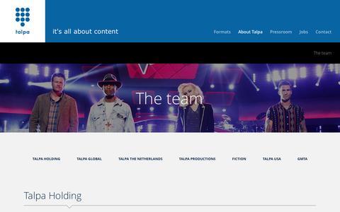 Screenshot of Team Page talpa.tv - The team - captured Feb. 23, 2016