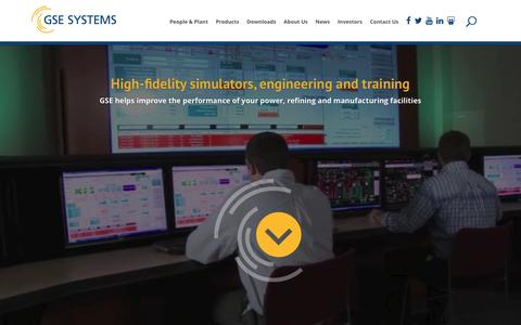 Screenshot of Home Page gses.com - High-fidelity simulators, engineering and training - GSE Systems - captured Jan. 24, 2016