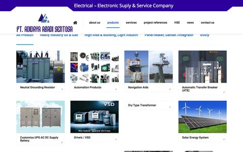 Screenshot of Products Page adidaya.co.id - Products – Adidaya Abadi Sentosa - captured July 11, 2017