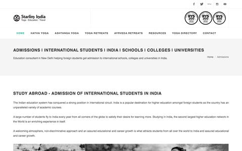 Admissions | International Students | India | Schools | Colleges | Universities