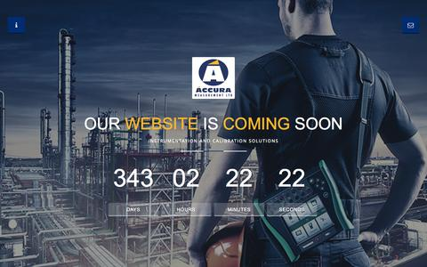 Screenshot of Home Page accurameasurement.com - Accura Measurement specialists in the sales, service and rental of test and measurement, process instrumentation and HSE products - captured Oct. 4, 2014