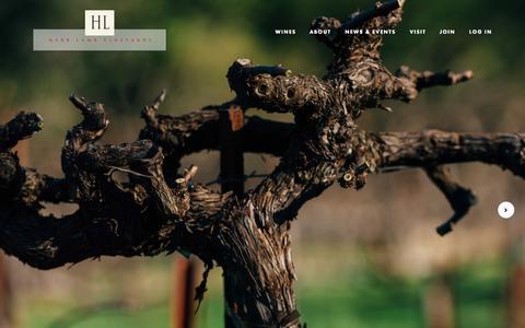 Screenshot of Home Page herblambvineyards.com - Herb Lamb Vineyards - captured July 21, 2015