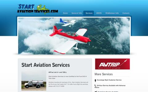 Screenshot of Services Page startaviationservices.com - Start Aviation Services - captured Sept. 30, 2014
