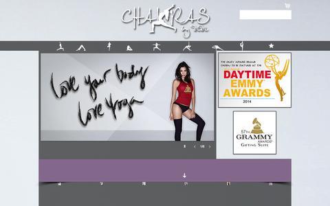 Screenshot of Home Page chakrasbydidi.com - Chakras by didi - captured July 20, 2015