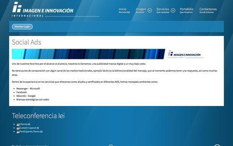 Screenshot of Menu Page imageneinnovacion.com - Testimoniales - Imagen e Innovación Internacional - captured Nov. 25, 2016