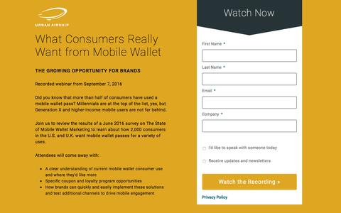 What Consumers Really Want from Mobile Wallet
