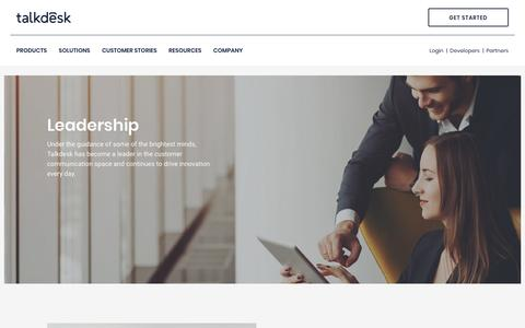 Screenshot of Team Page talkdesk.com - Talkdesk - captured March 16, 2018