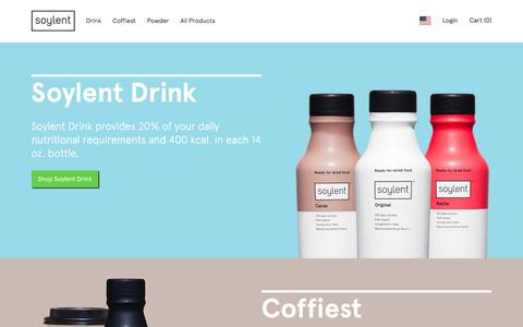 Screenshot of Products Page soylent.com - Soylent.com - All products - captured June 16, 2017