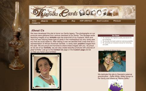 Screenshot of About Page kinfolkscards.com - Contact Us - captured Sept. 30, 2014
