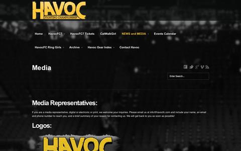 Screenshot of Press Page havocfc.com - Media | Havoc FC - captured Oct. 2, 2014