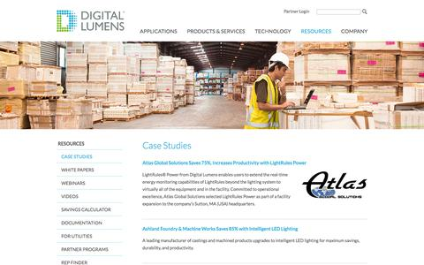 Screenshot of Case Studies Page digitallumens.com - Case Studies   Digital Lumens - captured July 4, 2016