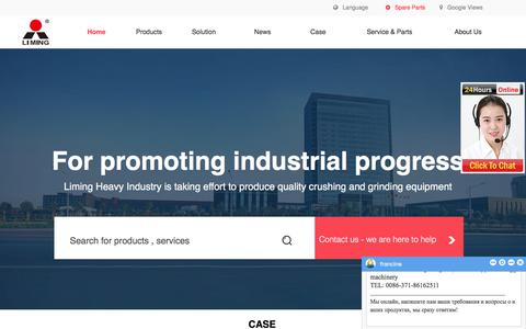 Screenshot of Home Page break-day.com - LIMING Mobile Crushing & Screening, Industry milling, Sand making and washing For Quarry-Liming Heavy Industry - captured Sept. 22, 2018