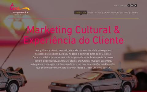 Screenshot of Home Page tuagencia.com.br - Tuagência Comunicação - captured Feb. 16, 2016
