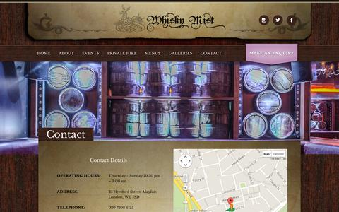 Screenshot of Contact Page whiskymist.com - Contact - Whisky Mist - captured Oct. 26, 2014