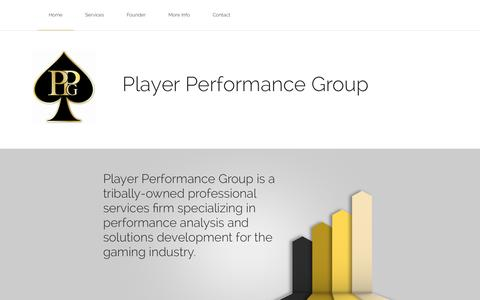 Screenshot of Home Page playerperformancegroup.com - Player Performance Group - captured Sept. 30, 2014