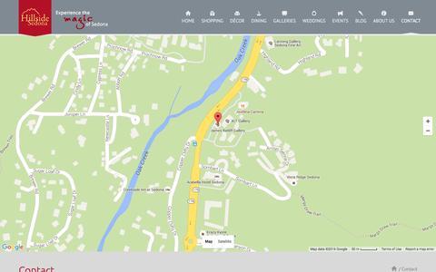 Screenshot of Contact Page hillsidesedona.net - Lease in Sedona | Sedona Property Management  | - captured July 8, 2016