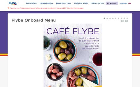 Screenshot of Menu Page flybe.com - Flybe Onboard Menu - captured June 6, 2017