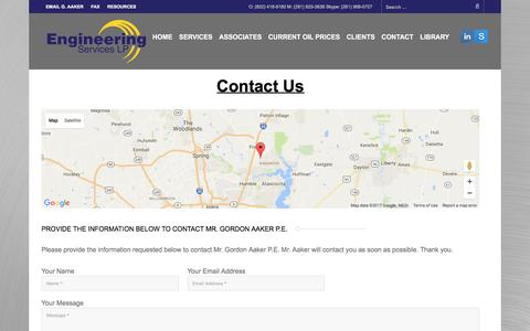 Screenshot of Contact Page engineering-experts.com - Contact Engineering Experts Witness in Houston - captured Jan. 1, 2017