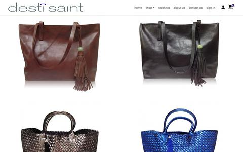 Screenshot of Home Page destisaint.com - Handbags | Buy Designer Leather Handbags Online | Desti Saint - captured Oct. 12, 2017