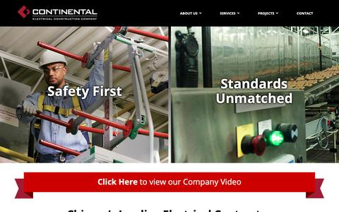 Screenshot of Home Page cecco.com - Home - Continental Electrical Construction Company - captured Sept. 29, 2018