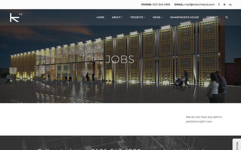 Screenshot of Jobs Page k4architects.com - Jobs | K4 Architects - captured Sept. 20, 2018