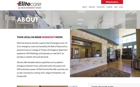Screenshot of About Page elitecareemergency.com - About • Elite Care Emergency - captured Jan. 27, 2016