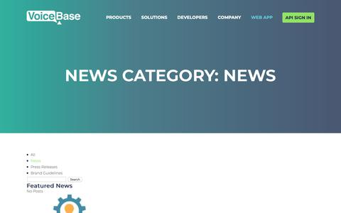 Screenshot of Press Page voicebase.com - News Archives - VoiceBase, Inc. - captured Feb. 11, 2019