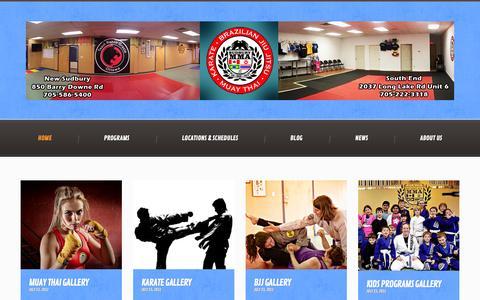 Screenshot of Home Page sudburymma.com - Sudbury MMA   Bring Mixed Martial Arts, Brazilian JIu Jitsu and Muay Thai Kickboxing to Greater  Sudbury Ontario - captured Jan. 22, 2015