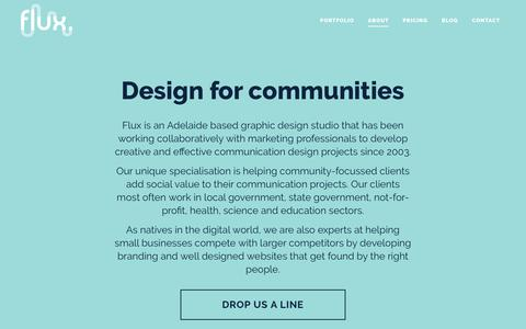 Graphic design company Adelaide — About Flux Visual Communication