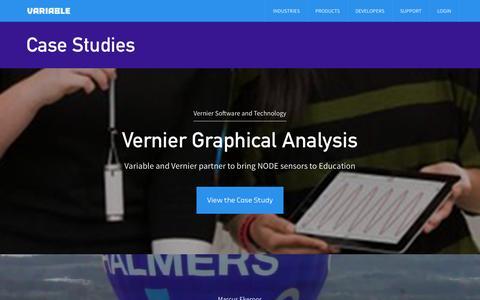 Screenshot of Case Studies Page variableinc.com - Case Studies | Variable, Inc. - captured Sept. 17, 2014