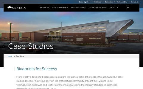Screenshot of Case Studies Page centria.com - Case Study | CENTRIA - captured Sept. 25, 2018