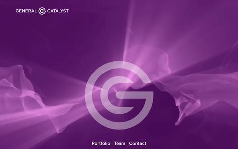 Screenshot of Home Page generalcatalyst.com - Home - Generalcatalyst - captured April 7, 2018
