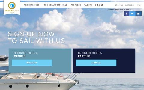 Screenshot of Signup Page oceanscapeyachts.com - Sign up - OceanScape Yachts - captured June 11, 2017
