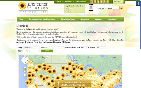 Screenshot of Locations Page janecartersolution.com - Locations – Jane Carter Solution - captured Jan. 9, 2016