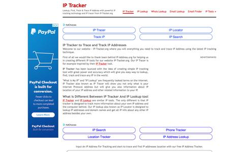 Screenshot of Home Page ip-tracker.org - IP Tracker: Track & Trace IP Address, IP Tracer, Find My IP Location - captured Sept. 21, 2018