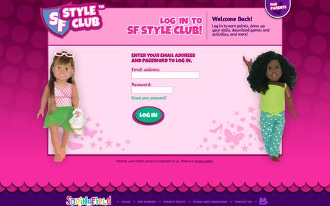 Screenshot of Login Page sfstyleclub.com - Log in to SF Style Club | SF Style Club - captured March 5, 2016