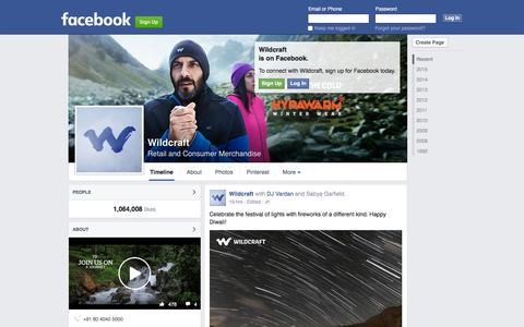 Screenshot of Facebook Page facebook.com - Wildcraft - captured Nov. 11, 2015