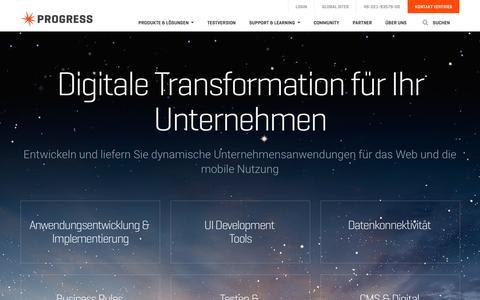 Screenshot of Home Page progress.de - Progress Software - Anwendungsentwicklung, Geschäftsanwendungen - captured April 17, 2016