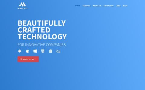 Screenshot of Home Page mobilejazz.cat - Mobile Jazz | Development of Mobile & Web Apps - captured Oct. 7, 2014