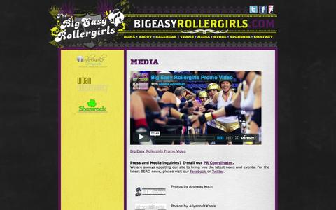 Screenshot of Press Page bigeasyrollergirls.com - Media     The Big Easy Rollergirls - captured Oct. 5, 2014