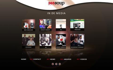 Screenshot of Press Page vendinova.com - 365SOUP® | Media - captured Oct. 26, 2014