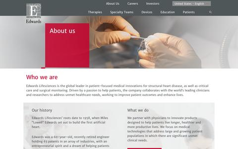 About us | Edwards Lifesciences