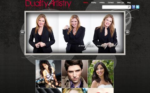 Screenshot of Home Page dualityartistry.com - Duality Makeup Artist, Dani Taverna, Naples, Florida and surrounding SW Florida region « Duality Artistry - captured Sept. 30, 2014