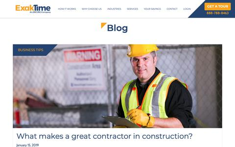 Screenshot of Blog exaktime.com - Blog | ExakTime - captured Jan. 20, 2019