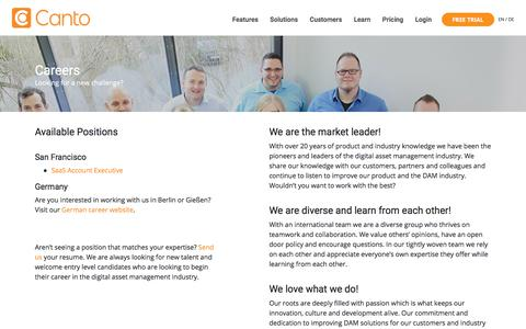 Careers - Canto - The Leader in Digital Asset Management Solutions