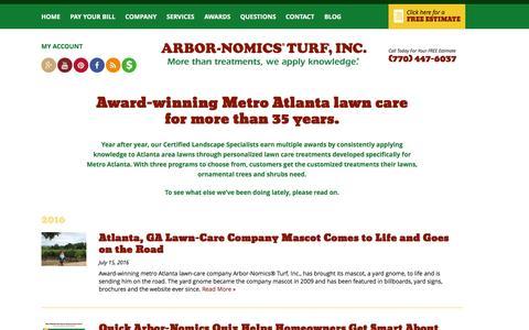Screenshot of Press Page arbor-nomics.com - Press Releases | Arbor-Nomics - captured Aug. 25, 2016