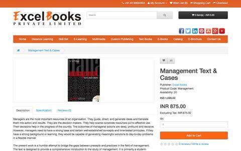 Screenshot of Team Page excelbooks.com - Management - captured Jan. 15, 2018